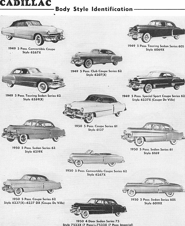 identifying 1946-1953 cadillac automobiles