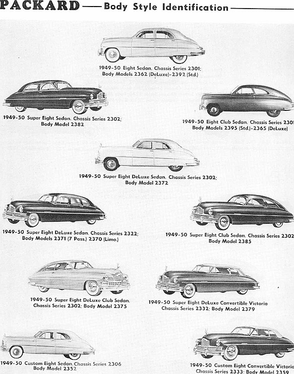 identifying 1946 to 1953 packard automobiles