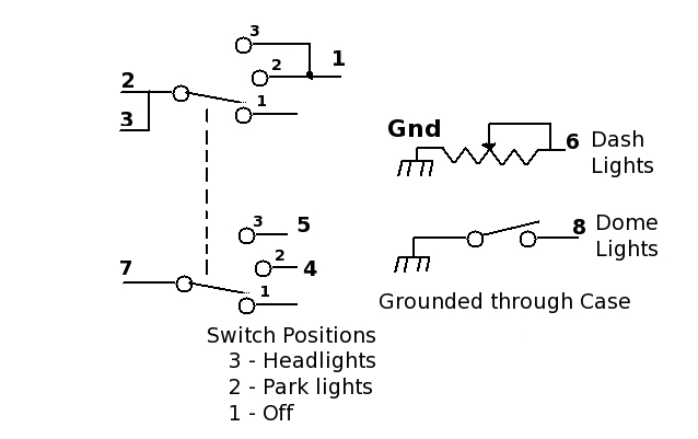 figuring out the headlight switch wiring route 66 hot rod high schematic of the light switch