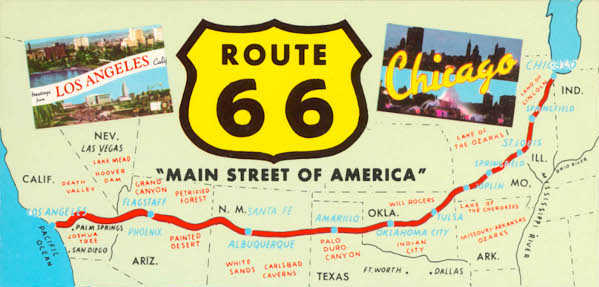 Map Of California Route 66.Home Room Route 66 Hot Rod High